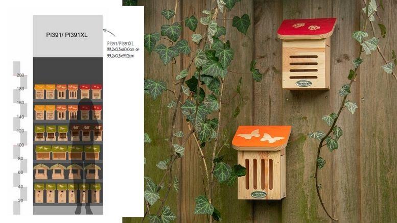 diapositieve reeks kasten voor vogels en insecten