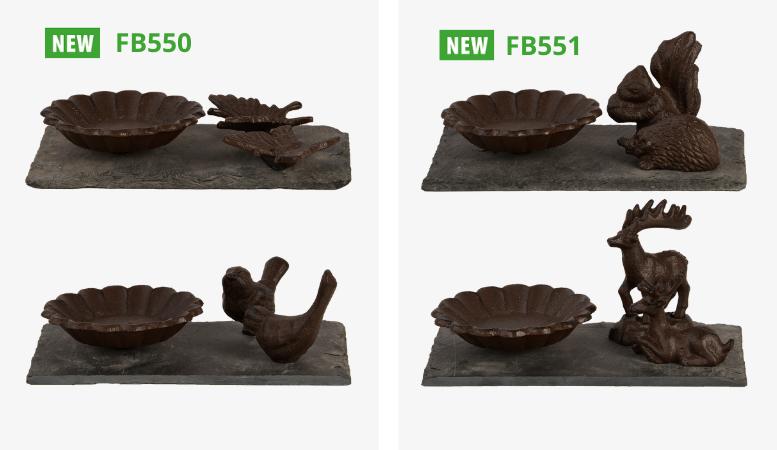 gietijzeren vogelbaden FB550 en FB551