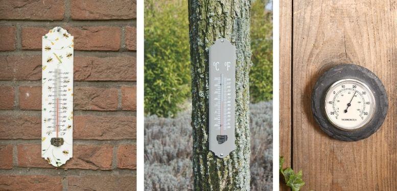 Thermometers met print, kleur of van leisteen