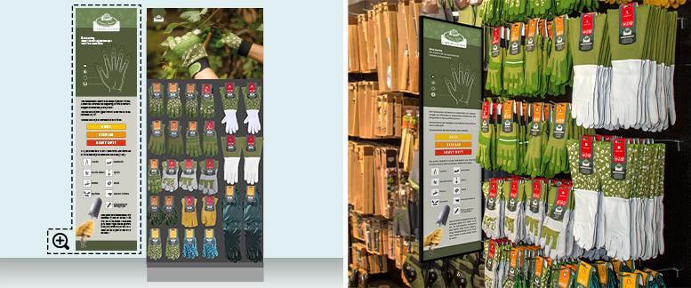 Garden Glove shelf solutions