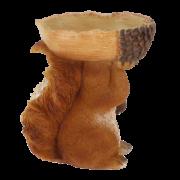 Vogelfutterschale Eichel mit Eichhörnchen
