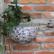 Aged ceramic wall planter