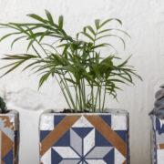 Portuguese tile flower pot S