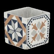 Portuguese tile flower pot L