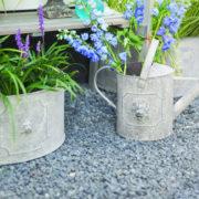 AM lion flower pots half round set2