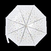 Transparent umbrella with bee print