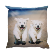 Outdoor cushion with dog print L