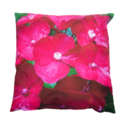Outdoor cushion with pink flower S