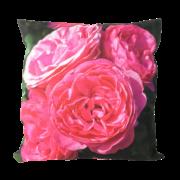 Coussin d'extérieur avec imprimé floral rose L.