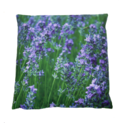 Outdoor cushion with purple flower L
