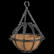 """Metal hanging basket shpere 10"""""""