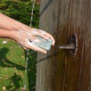Porte savon nostalique avec savon
