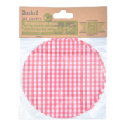 Red/white checked jar covers
