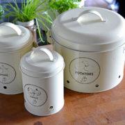 Storage tin potato