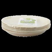 Disposable palm leaf plate set/8 S