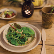 Disposable palm leaf plate set/8 L