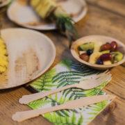 Disposable palm leaf bowl set/8