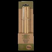 Bamboo rietjes inclusief schoonmaakborstel