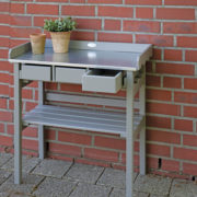 Garden work bench grey