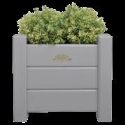 Square planters set of 2 grey S/L
