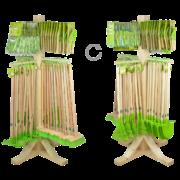 Présentoir articles KG en bois