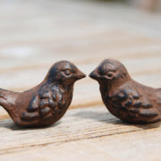 Giftbox birds thank you rusted