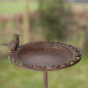 Birdbath on pole 39cm