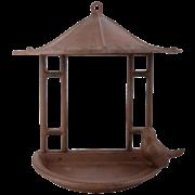 Wall bird feeder