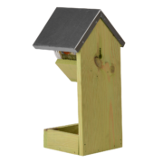 Peanut butter house with feeder