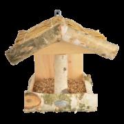 Birch wall bird table