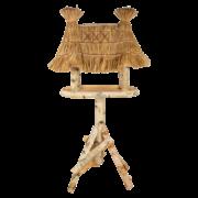 Birch bird table on pole L