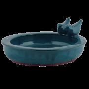 Ceramic round bird bath