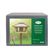 Square bird table with silo