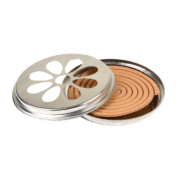 Citronella coils in zinc burner