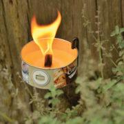 Grondpin voor tuinkaarsen in blik