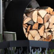 Round wood storage