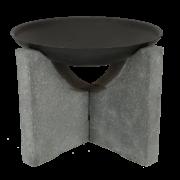 Foyer sur socle granito