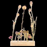 Houten bloemen- en kruidenstandaard L