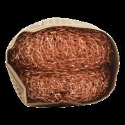 Koper schuurwol set van 2
