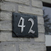 Slate plate 2 house numbers
