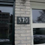 Slate plate 3 house numbers