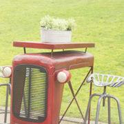 Tractortafel rood