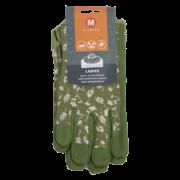 Damen-Gartenhandschuhe gemustert M