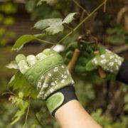 Gants de jardin avec motifs, grip & protection L