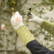 Gartenhandschuhe mit Stulpe gemustert
