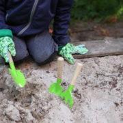 Kindergereedschapset 3 delig groen