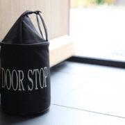 Doorstop with ring black/grey ass.