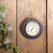 Schiefer Thermometer rund