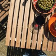 Klapptisch Holz/Metall/ creme