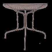 Halbrunder Tisch Metall